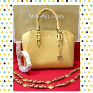 Michael Kors Ciara Large TZ Satchel Crossbody